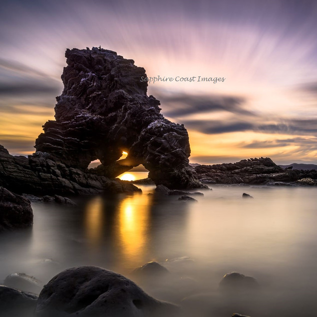 Heart of Gold Old Man Rock At Sunset
