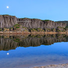 Moon over Bournda Lagoon