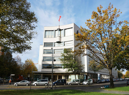 (ベルリンの建築)らせん階段は一見の価値があるエーリッヒ・メンデルゾーンのドイツ金属労働者組合本部