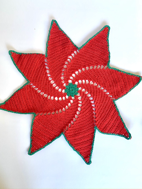 Handmade Star of Betlehem Flower Placemat