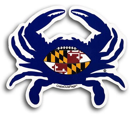 Baltimore Ravens Crab Sticker (Purple w/ MD Flag Football)