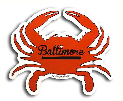 Baltimore Orioles Crab Sticker