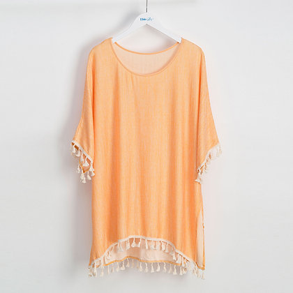 GOLD FRINGE SWIMSUIT COVERUP - ONE SIZE