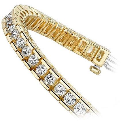 14Kt. Yellow gold diamond tennis bracelt