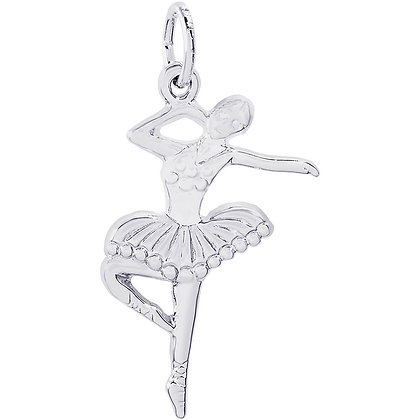 Rembrandt Charms - Ballet Dancer with Tutu - Sterling Silver