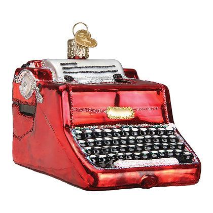 Old World Christmas Typewriter Ornament