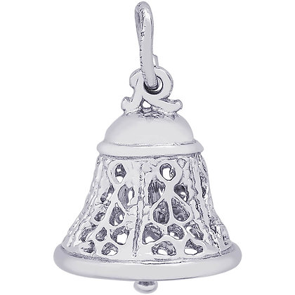 Rembrandt Charms - Filigree Bell - Sterling Silver