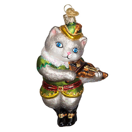 Old World Christmas Cat and the Fiddle Ornament