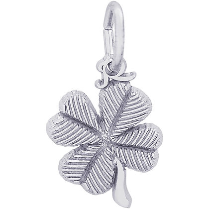 Rembrandt Charms - Four Leaf Clover - Sterling Silver