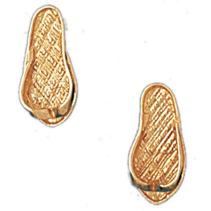 14 kt. 3D Flip Flop stud earrings