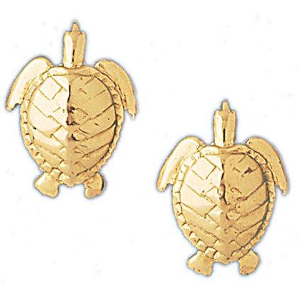 14 kt. Turtle stud earrings