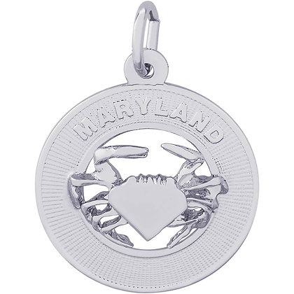 Rembrandt Charms - Maryland Crab - Sterling Silver