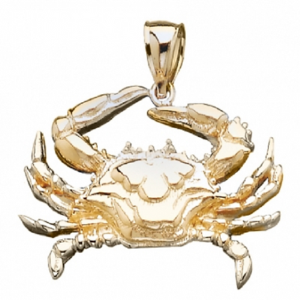 14kt. Blue Crab pendant