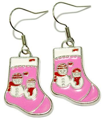 Snowman Stocking Earrings