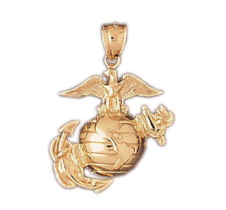 14kt. EGA Marine Corps Emblem pendant