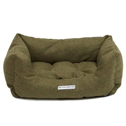 Mutts and Hounds BOXY BETT Forest Green Tweed
