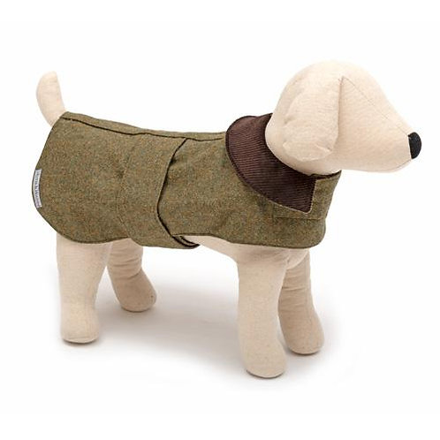 Mutts and Hounds HUNDEMANTEL Forest Green Tweed