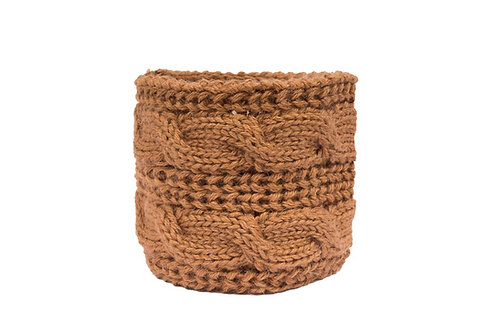 Alqo Wasi PERUANISCHER ALPACA HUNDESCHAL Camel Cable Knit
