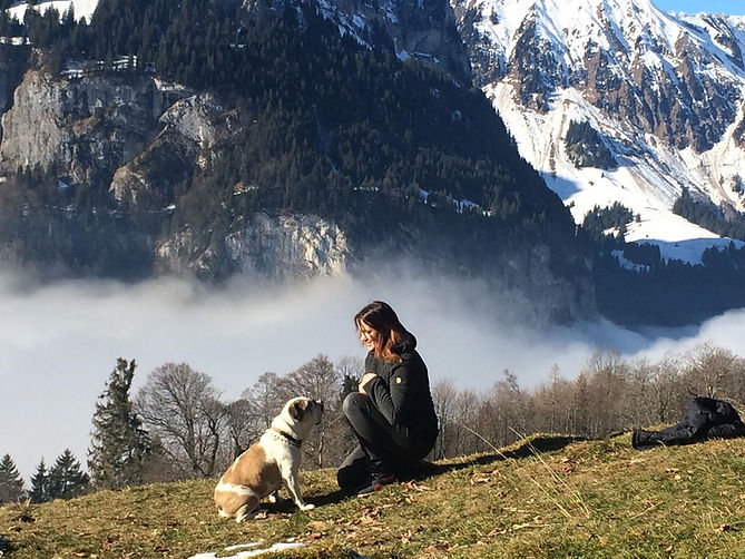Mit Spence in der Natur in Engelberg
