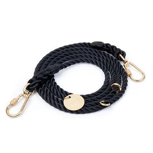 Schwarze Leine aus Schiffstaue von Found My Animal Schweiz Shop - Kläfferkram