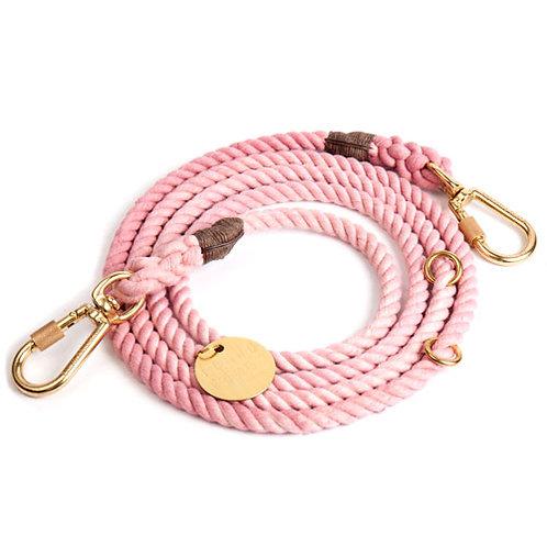 Verstellbare Hundeleine pink cotton blush von Found My Animal I Kläfferkram