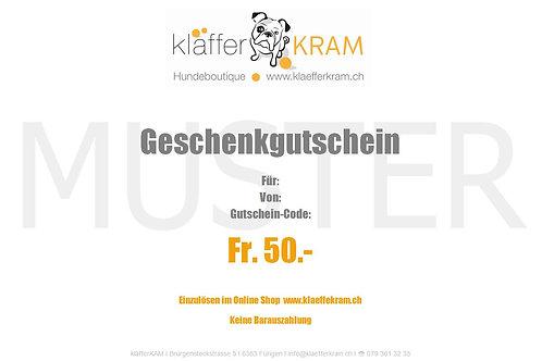 GUTSCHEIN Fr. 50.-