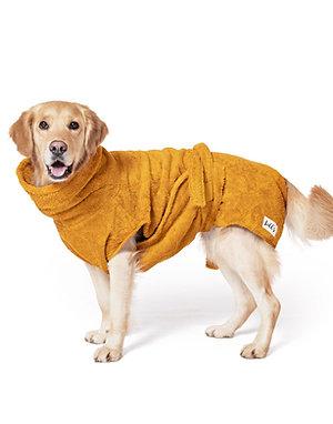 LILL'S Hundebademantel aus Bio-Baumwolle AMBER