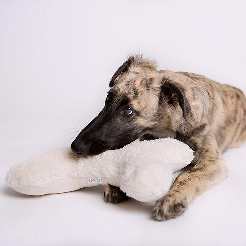Hund mit Spielzeug Love Bone von Cloud7