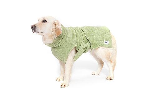 Hundebademantel Bio-Baumwolle grün von Lill's