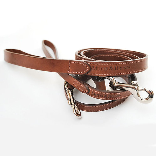 Mutts & Hounds Hundeleine Classic Tan Leder I Kläfferkram Shop
