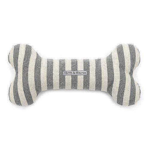 Mutts & Hounds BONE Flint Stripes Baumwolle