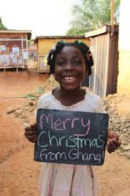 petite fille souhaite noel ghana
