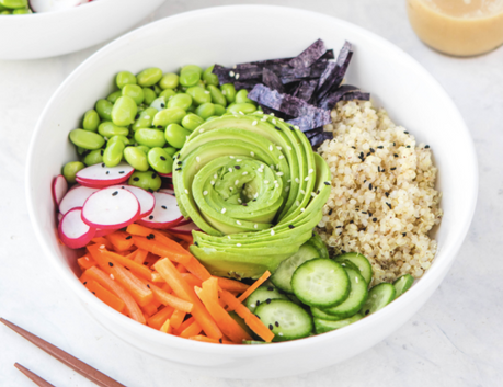 Quinoa Sushi Bowls with Orange Miso Dressing