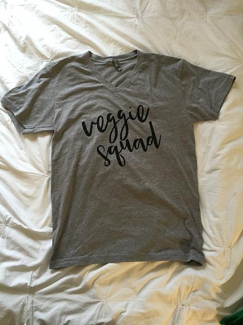 Grey Veggie Squad V-neck
