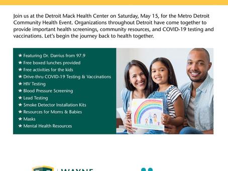Wayne Health and Molina Healthcare host free May 15 Metro Detroit Community Health Event