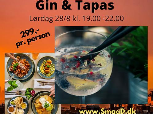 Gin & Tapas Lørdag d. 28/8 kl. 19.00 - 22.00