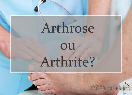 Quelle est la différence entre l'arthrite et l'arthrose?
