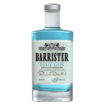 BARRISTER BLUE GIN 40% 50 CL.