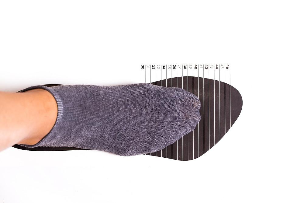 Largeur du pied - Longueur du pied - Tailles appropriée pour les souliers