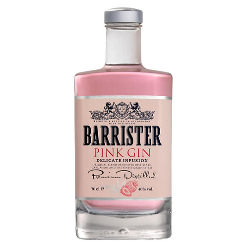 BARRISTER PINK GIN 40% 50 CL.