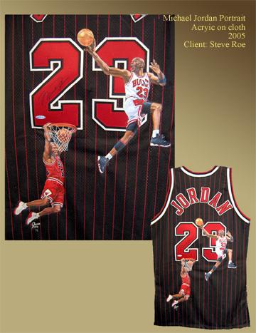Michael Jordan  pained jersey