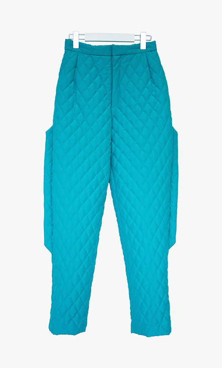 Quilted pants with side detailing