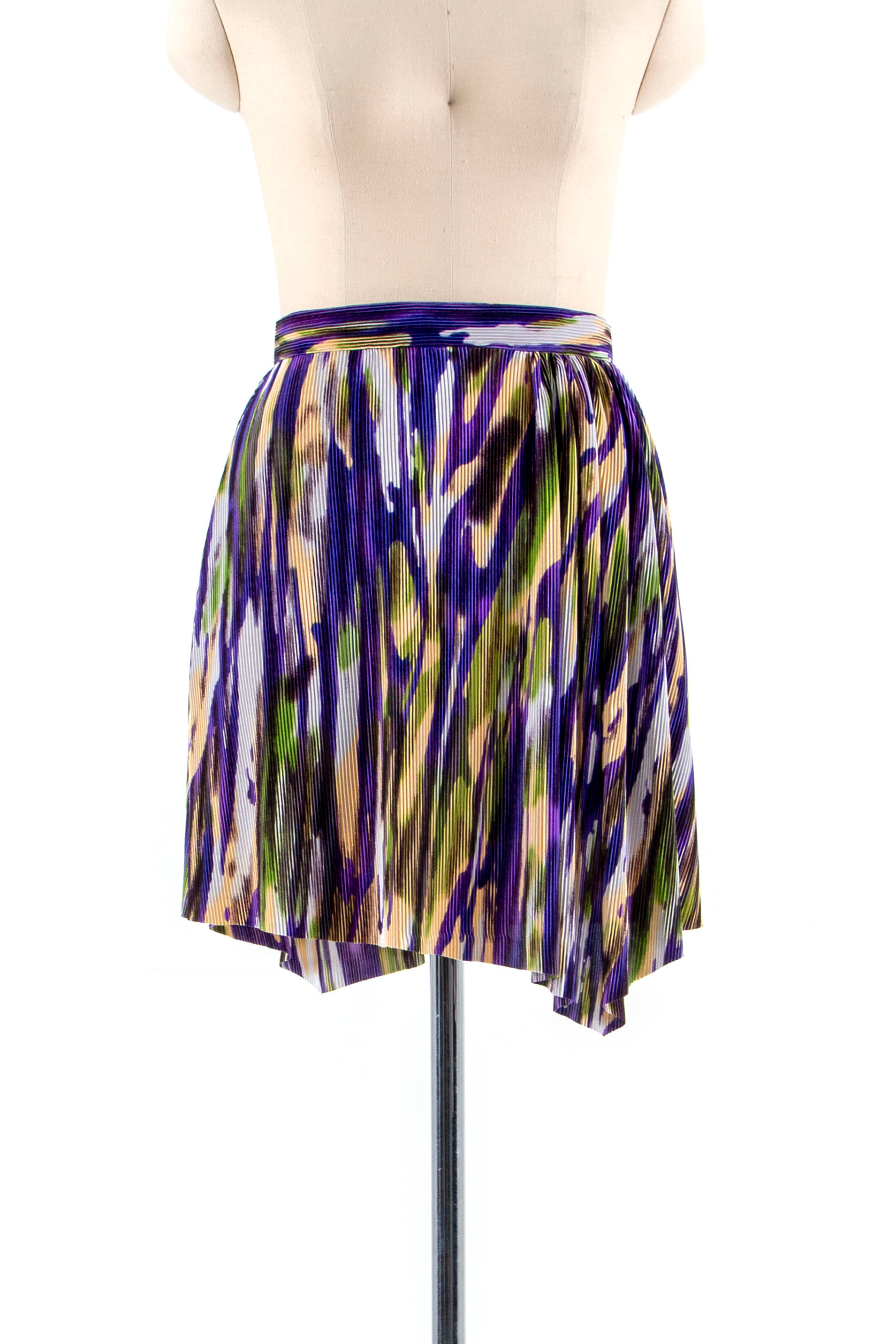 Pleats mini Skirt with shirring detail