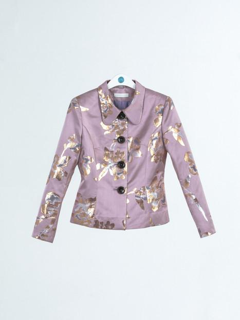 High quality jacquard gold thread brocade Jacket
