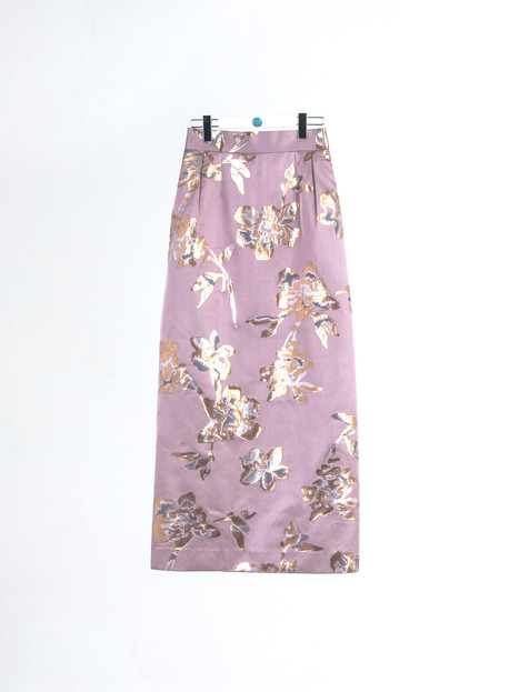 High quality jacquard gold thread brocade Skirt