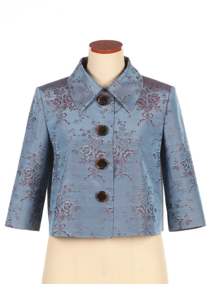 Short jacket with high quality silk fabric