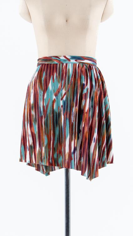Pleats mini Skirt with shirring detail
