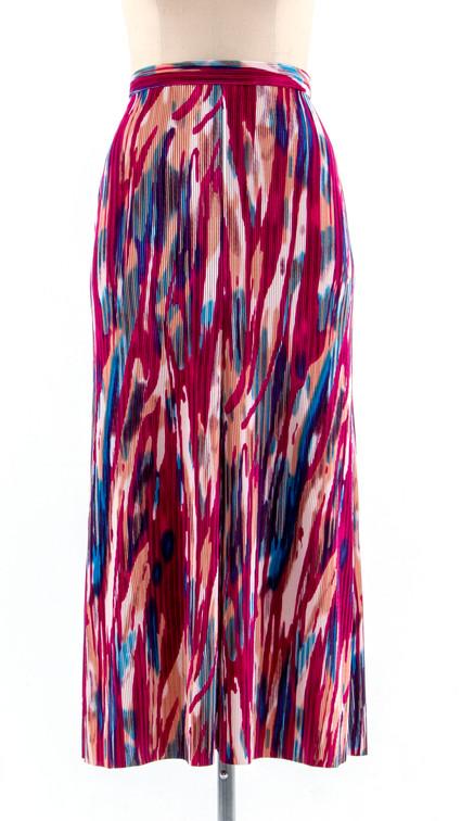 Pleats A-line Skirt
