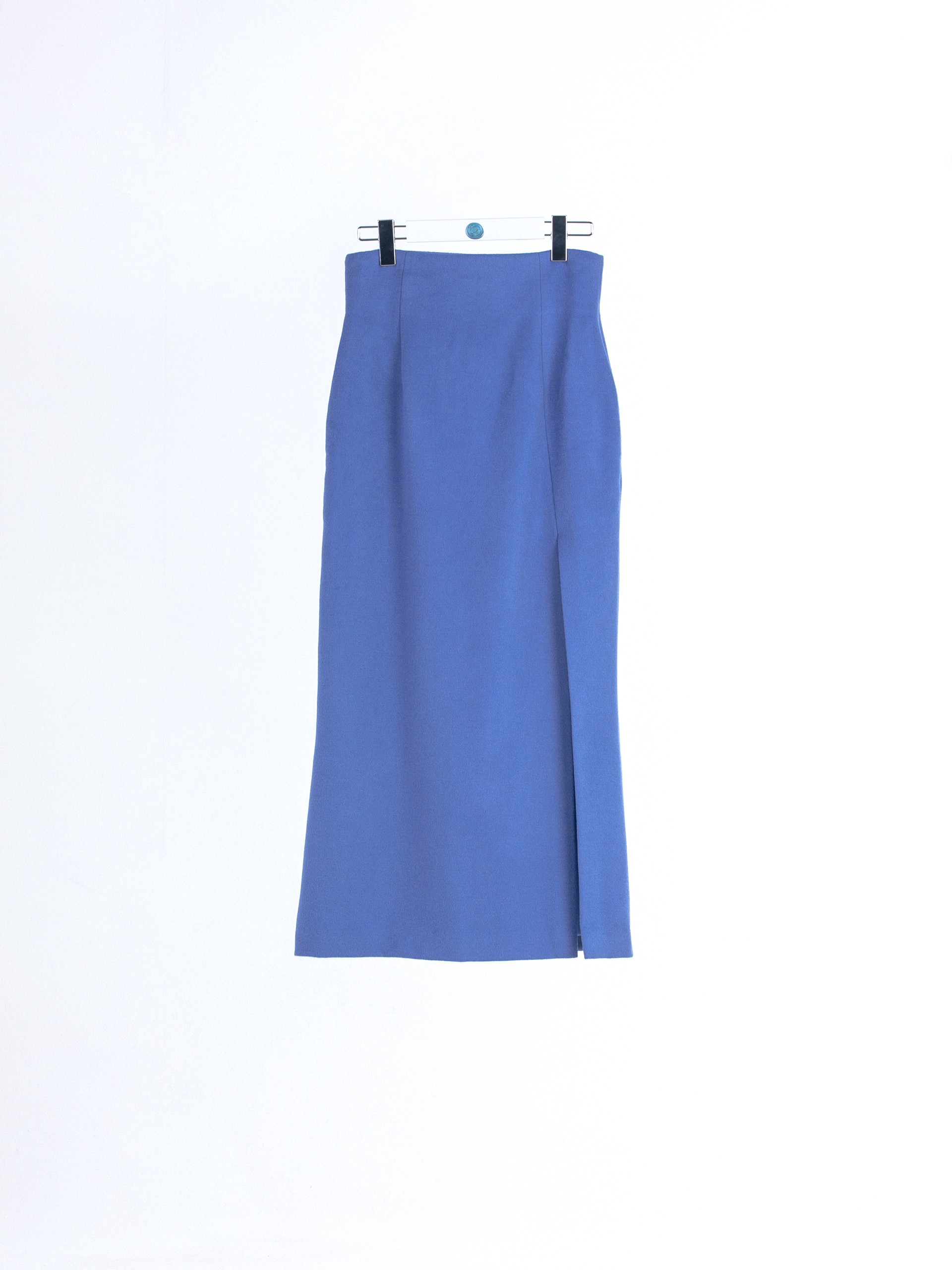 Cashmere wool maxi Skirt with front side slit