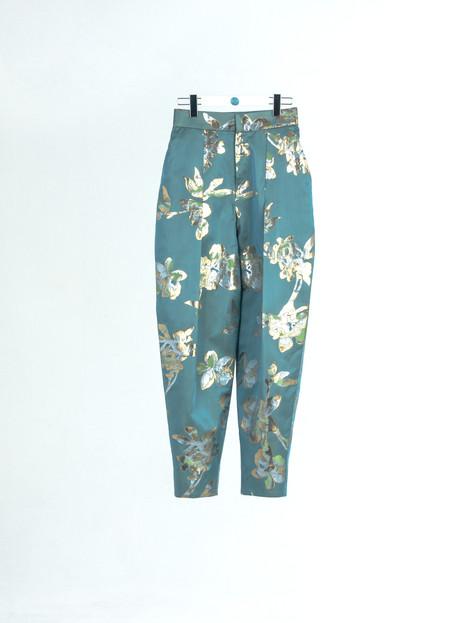 High quality jacquard gold thread brocade Pants